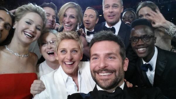 Selfie de Ellen DeGeneres en los