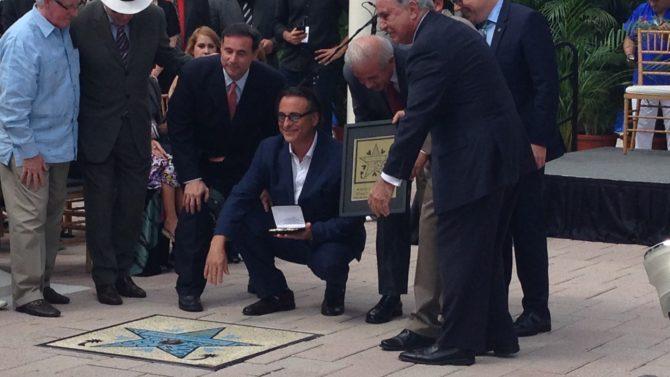 Andy Garcia Miami Walk of Fame