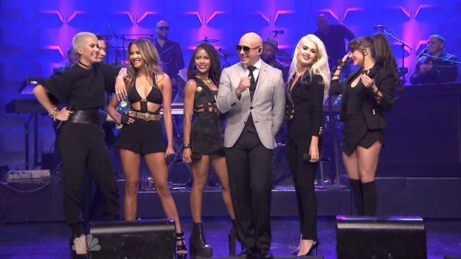GRL Pitbull Tonight Show