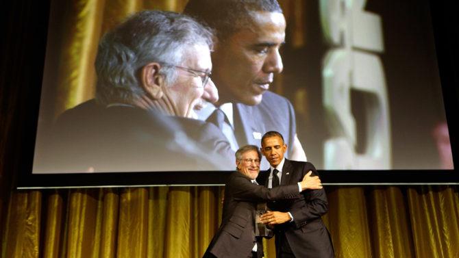President Barack Obama Steven Spielberg