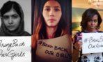 Celebridades protestan por secuestro de niñas