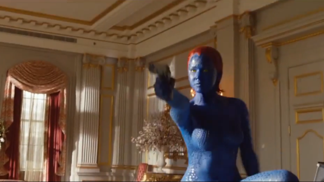 Jennifer Lawrence Mystique X-Men Video
