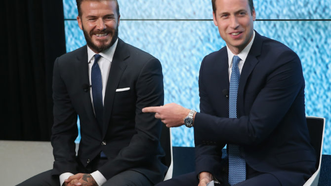 Prince William, David Beckham, United for