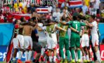 Costa Rican players celebrate after the