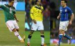 Jugadores de México, Brasil e Italia
