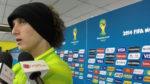 Jugadores de Brasil reaccionan al 7-1