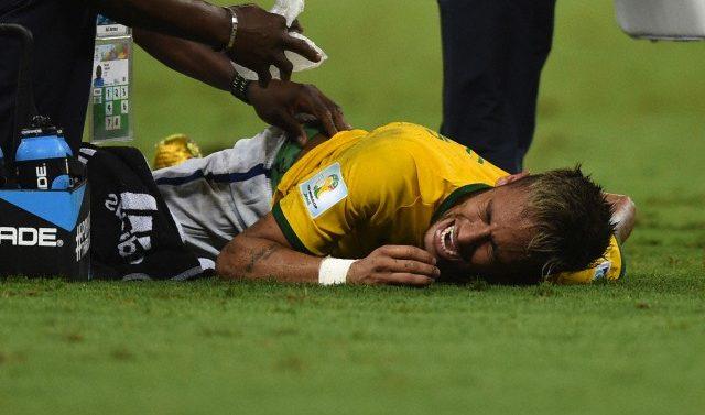 Neymar herido herida vertebra Colombia Brasil