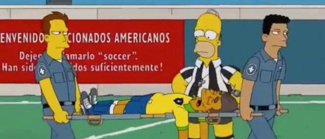 "Capítulo de ""The Simpsons"" predijo lesión"
