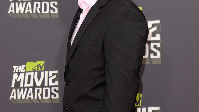 arrives at the 2013 MTV Movie