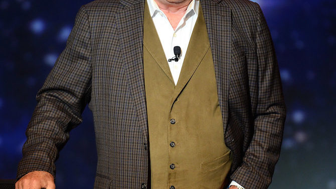 Actor William Shatner performs during his