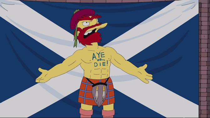 Groundskeeper Willie defiende la independencia de