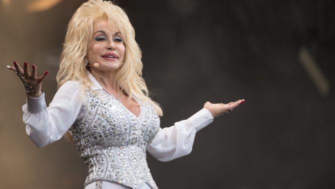 GLASTONBURY, ENGLAND - JUNE 29: Dolly
