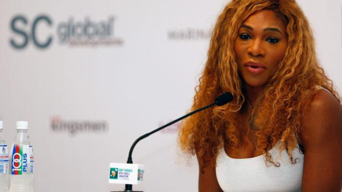 SINGAPORE - OCTOBER 19: Serena Williams