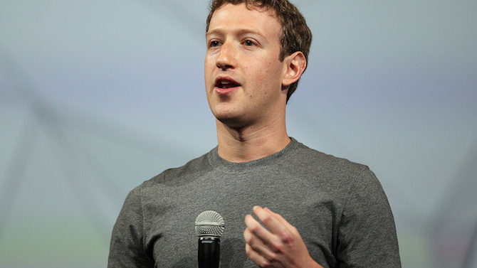 Facebook CEO Mark Zuckerberg delivers the