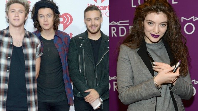 One Direction Lorde Cantaran American Music