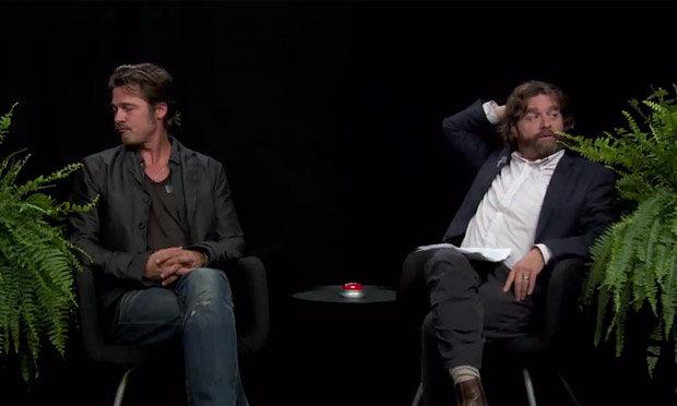 Brad Pitt Zach Galifianakis Between Two