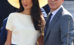 George Clooney and Amal Alamuddin sign