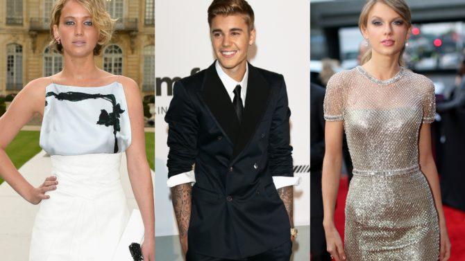 Bieber, Lawrence y Swift entre los