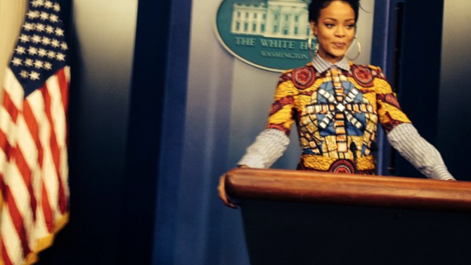 Rihanna Visita Casa Blanca
