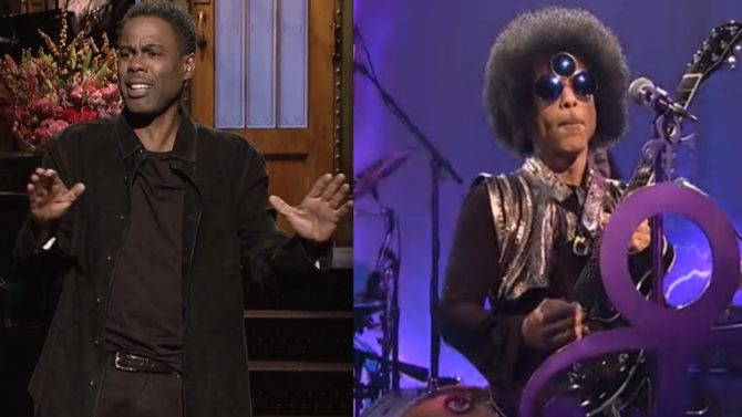Chris Rock y Prince en SNL
