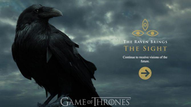 Game of Thrones website thethreeeyedraven.com