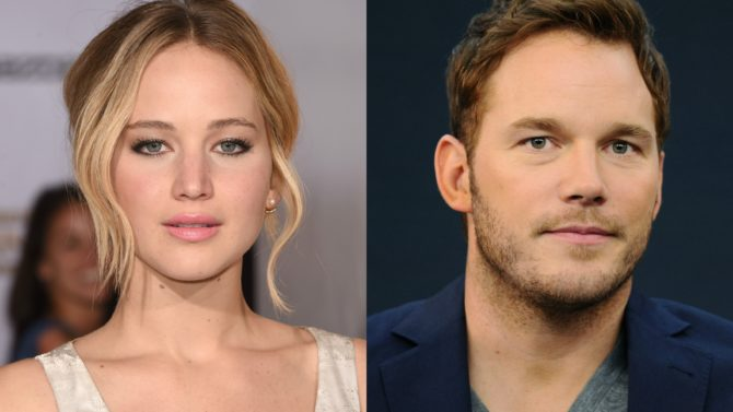 Jennifer Lawrence y Chris Pratt los