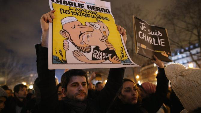 PARIS, FRANCE - JANUARY 08: People