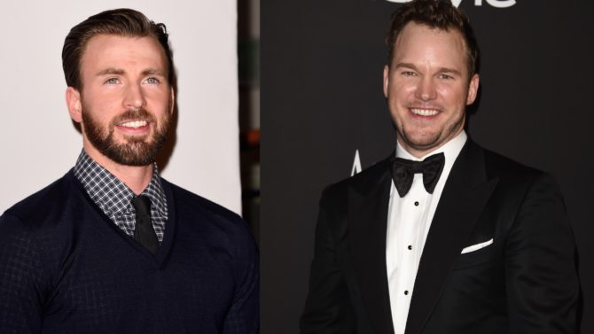 Chris Evans y Chris Pratt apuesta