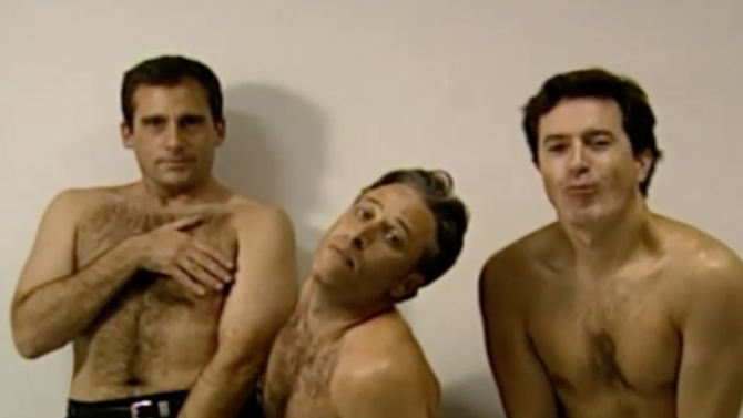 Steve Carell, Jon Stewart y Stephen