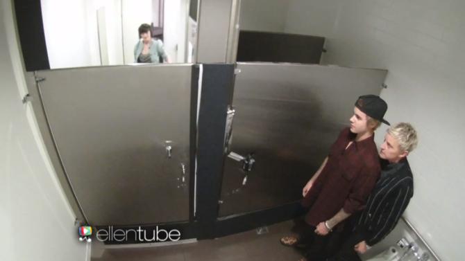 Justin Bieber y Ellen DeGeneres