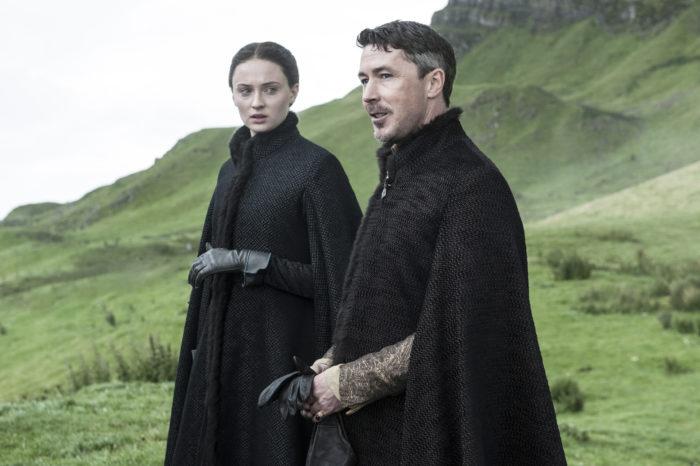 Sophie Turner (Sansa Stark) y Aidan Gillen (Littlefinger)