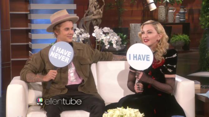 Madonna, Justin Bieber