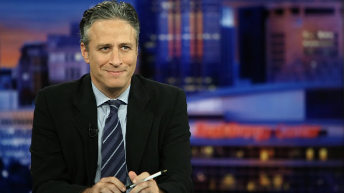 Host Jon Stewart of Comedy Central's