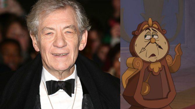Ian McKellen será Cogsworth en 'Beauty