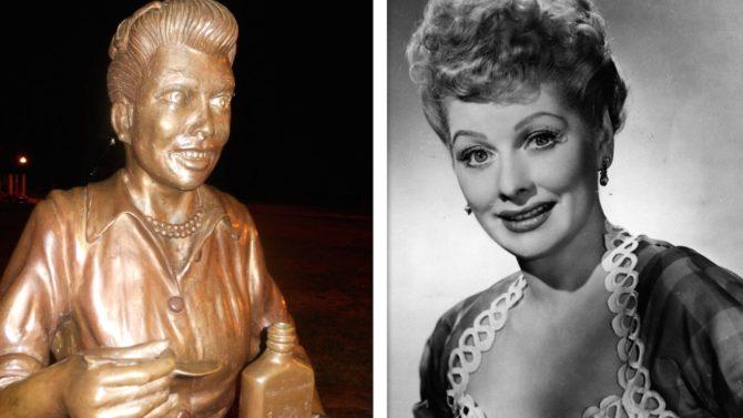 piden remover aterradora estatua Lucy Ball