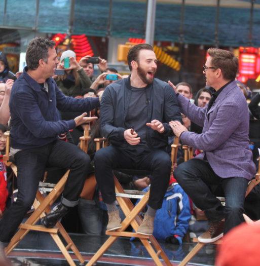 Robert Downey Jr., Chris Evans y Mark Ruffalo