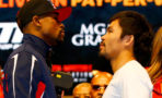 Floyd Mayweather Jr. (L) and Manny