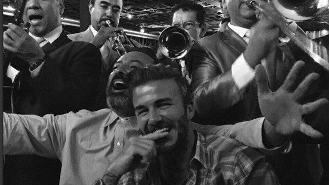 David Beckham de fiesta en México