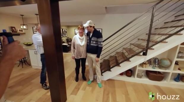 Ashton Kutcher sorpresa mamá houzz