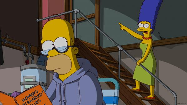 The Simpsons Homero y Marge se