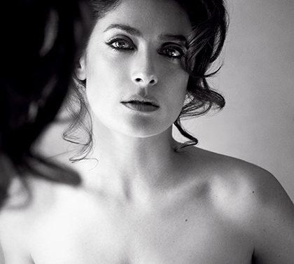 Salma Hayek topless Allure Magazine