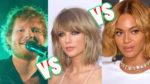 Taylor Swift, Beyoncé y Ed Sheeran