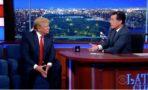 Donald Trump Stephen Colbert entrevista