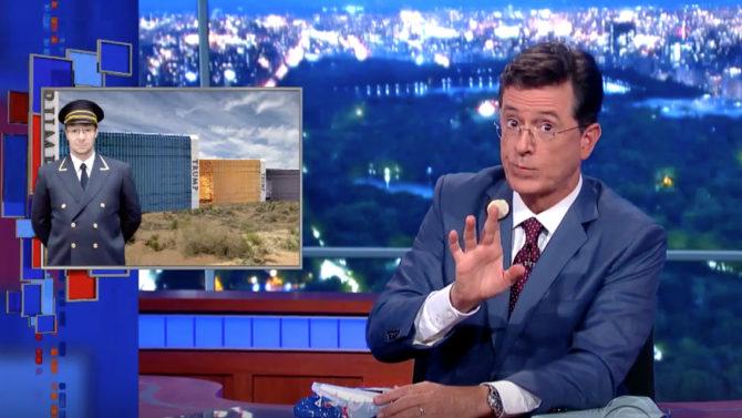 Stephen Colbert Donald Trump debut Late