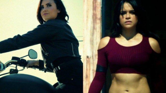 Demi Lovato Confident Video Michelle Rodriguez