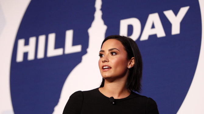 WASHINGTON, DC - OCTOBER 05: Demi