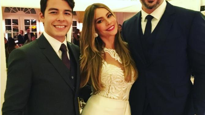 Sofía Vergara y Joe Manganiello celebran