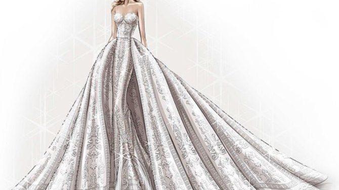 Sofía Vergara vestido de novia Zuhair
