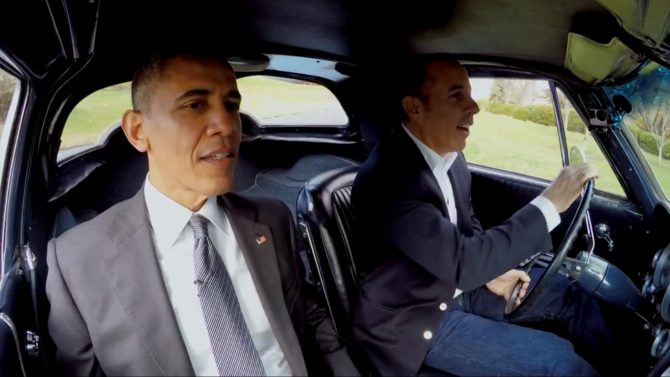 El Presidente Obama toma café con