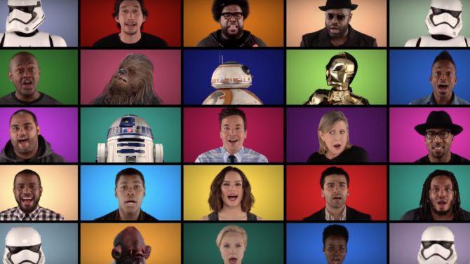 Elenco de 'Star Wars' con Jimmy